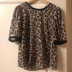 Sheer Cheetah Print top
